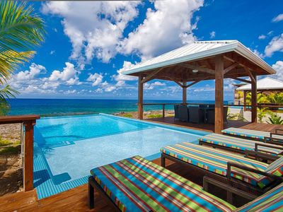 Photo for WEST END'S PREMIER VILLA DIRECTLY ON THE WATER - PRIVATE INFINITY POOL - SUNSET