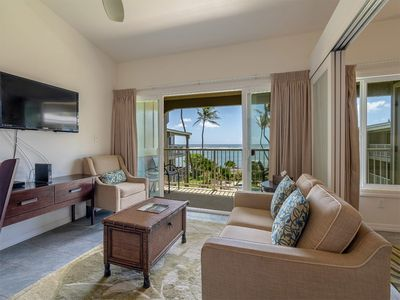 Photo for OV Bliss w/Den, Chic Kitchen, Lanai, Ceiling Fans, WiFi, TV, Lanai–Kauai Kailani K309