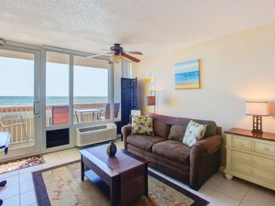 Photo for Best Location: Direct Oceanfront, 3 Min Walk to Restaurants, Fishing Pier, & More! FREE HBO & WIFI!