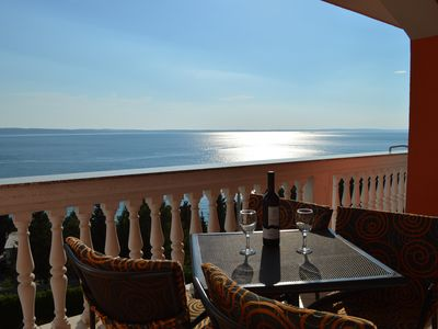 Photo for Apartment with direct seaview