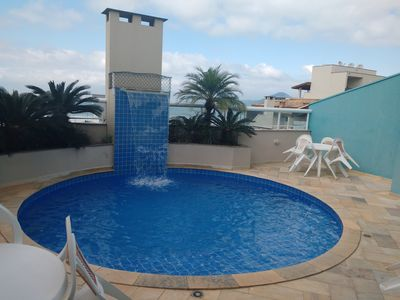 Photo for Apto 2 bed, gourmet balcony, for 8 people, 70m from the beach, side view to the beach