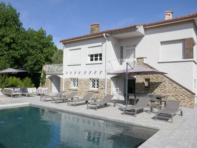Photo for Large Villa on park of 5000 m² closed with secure pool