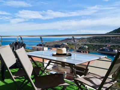 Photo for STYLE FOR THIS APARTMENT T2 WITH SEA VIEW TERRACE, to CERBERE