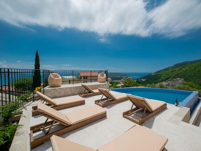 Photo for Modern three bedroom villa with a pool and spectacular view