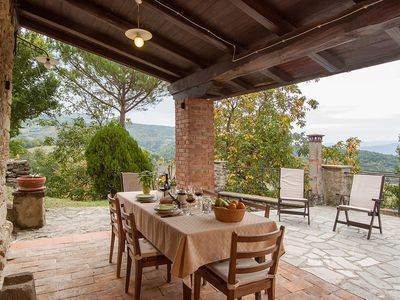 Photo for Country house with pool, in the hills between Florence and Arezzo