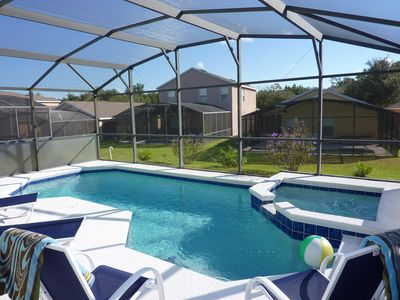 Enjoy your private heated pool & spa.