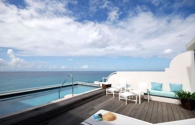 Private Rooftop Pool and Sun Deck with View of CupecoyBeach and the Caribbean!!