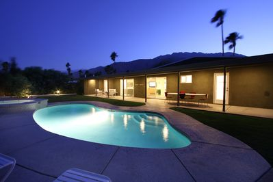 Salt water pool and built-in spa, large shade patio, very private yard