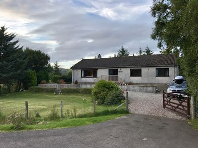 Photo for Highland home for up to 8, beautiful setting on the shores of Loch Shiel,