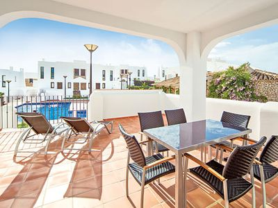 Photo for Modern, air-conditioned villa w/ communal pool, close to beaches + village
