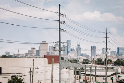 Great view of Downtown from our rooftop patio!