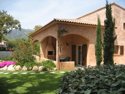 Photo for Charming double villa, each for up to 6 guests, lovely pool, mountain view.