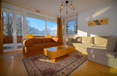 Photo for Apartment Bruckberg A - tastefully furnished apartment, sunny location, big balcony with amazing vie