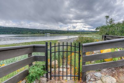 Gate from B&B to Nanoose Bay