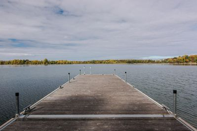 The dock has plenty of room to sit and enjoy the view.