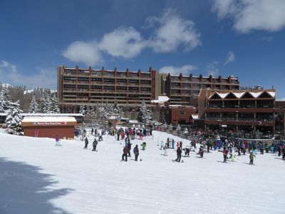 Beaver Run is located right on the beginner slopes, convenient to everything!