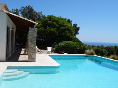 Photo for LUXURY VILLA 8 PEOPLE. SWIMMING POOL. SEA VIEW. CALM. PARKING.WIFI.CLIMATISATION