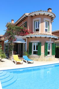 Photo for Superb Luxury Villa Private Pool and Magnificent Communal Pool, Superfast WiFi