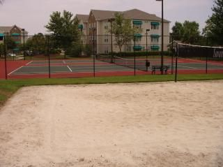 Volleyball and Tennis courts in gated community;