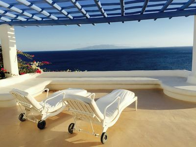 Photo for Luxurious hideaway with amazing views, close to the two top beaches in Mykonos