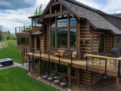 Photo for Premium lakefront log home with stunning views and exquisite finishes!