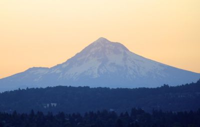 Beautiful Mt. Hood from the apt deck