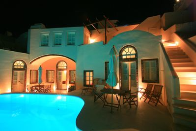 Grand Canava two storey villa in a quiet summer night.