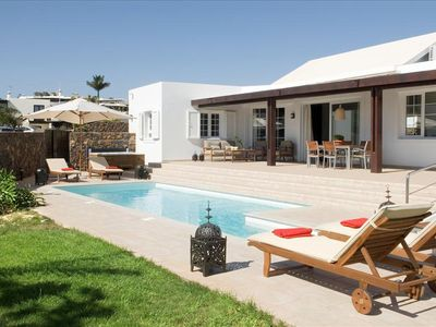 Photo for Casa Janubio Tres is a spacious, top quality villa, which is located in the quiet residential area o