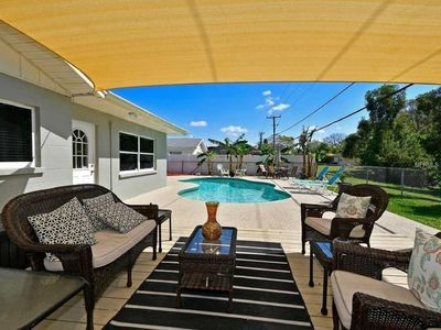 Photo for Sleeps 10, pool,  quiet neighborhood, beaches, shopping, restaurants, IMG close