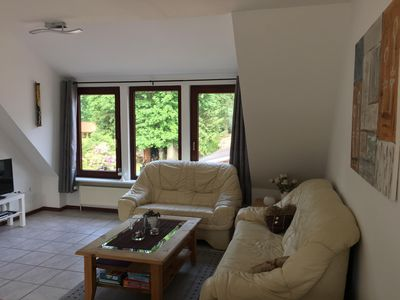 Photo for Beautiful friendly apartment in Gyhum-Bockel on the A1 idyllic location with Waldblic