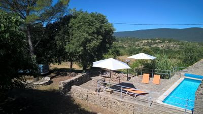 Photo for Provencal farmhouse with swimming pool in a domain of 4 ha in the middle of the village