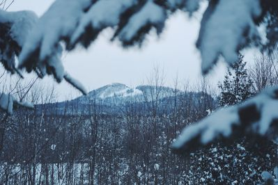 Winter view to Sugar Loaf Mountain from master bedroom