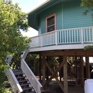 A private house nestled in the trees in Elbow Cay, Hopetown