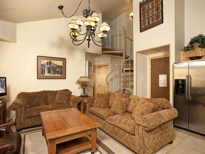 Photo for Mountain Condo with a Loft | Hot Tub and Pool Access Included!
