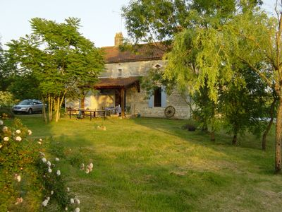 Photo for Secluded stone farmhouse in beautiful countryside with private 12x6m pool