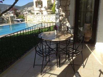 Photo for Beautiful Apartment, large pool, great views of Kalkan Bay and close to town