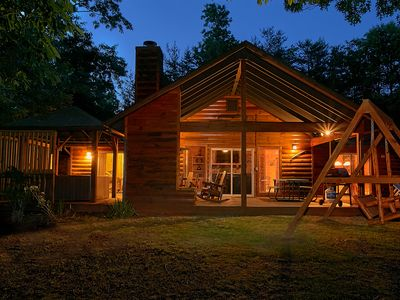 Photo for Experience Amazing Views and a Theater room from your Romantic Getaway Cabin!