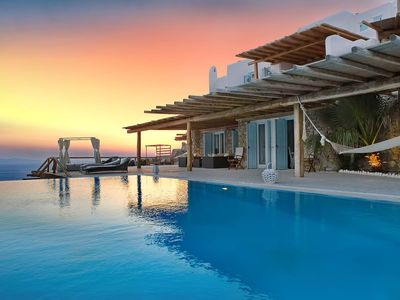 Photo for Beautiful Only One Villa, in Mykonos, with swimming pool, sea view, 14 sleeps