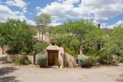 Arrival on the property and welcoming entrance