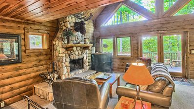 Photo for 3BR Mountain Cabin - Skier and Golfer Paradise, Private, Sleeps 8