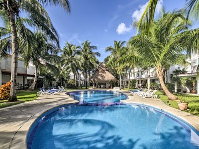 Photo for Remodeled Playacar Townhome w/ Shared Pool Access!