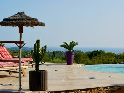 Photo for Exceptional property, seaview, swimming pool, jacuzzi, sauna, 8 people