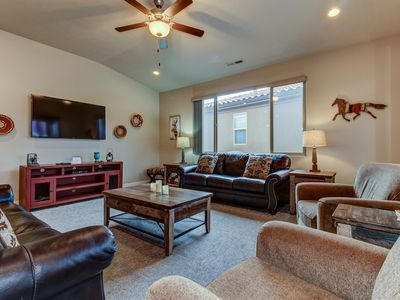 Photo for Views of Snow Canyon and resort pools/hot tub await from this spacious house