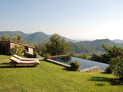 Photo for Stunning private villa with WIFI, private pool, TV, patio, washing machine, close to Viareggio
