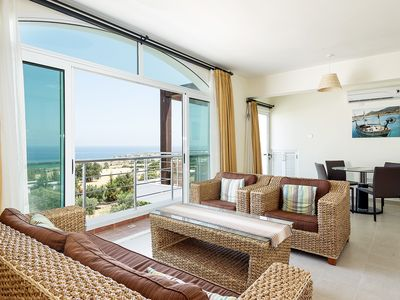 Photo for Warm and Cozy family friendly Penthouse with stunning Mountain and Sea Views