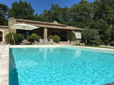 Photo for Charming villa with pool and tennis, 160m2 on large plot of 8000m2