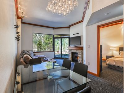 Photo for Condo with shared pool, hot tub and sauna - close to skiing and hiking!