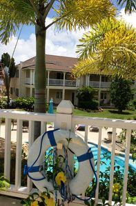 Photo for Delightful 2 Bed apt, sea & pool views to front & rear