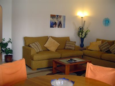 Photo for 1 bedroom apartment with Luz Ocean Club facilities, central, Wi-Fi, beach 350 mt
