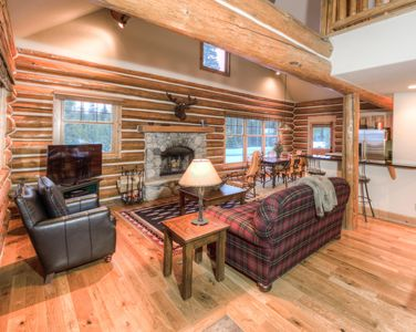 Photo for Ski-in ski-out log cabin, gorgeous views and perfect for families